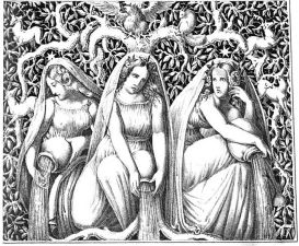 726px-Norns_(1832)_from_Die_Helden_und_Götter_des_Nordens,_oder_Das_Buch_der_sagen