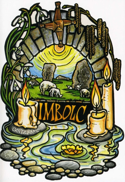 candles brigid cross sheep sun symbols of imbolc
