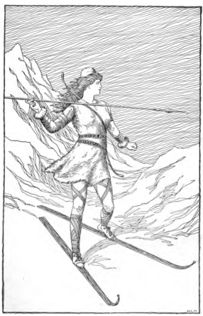 Skadi_Hunting_in_the_Mountains_by_H._L._M